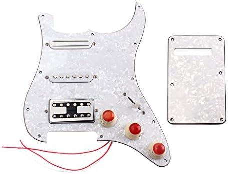 B Blesiya Placa Protectora para Precableado SSH 3ply Pastilla Cargada para Guitarra Eléctrica Stratocaster: Amazon.es: Instrumentos musicales
