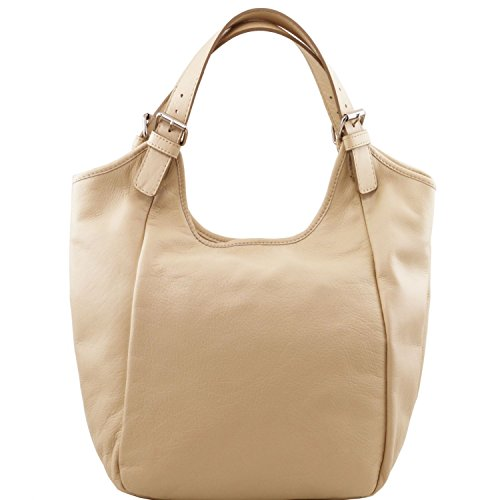 Tuscany Leather - Gina - Sac hobo en cuir - Beige