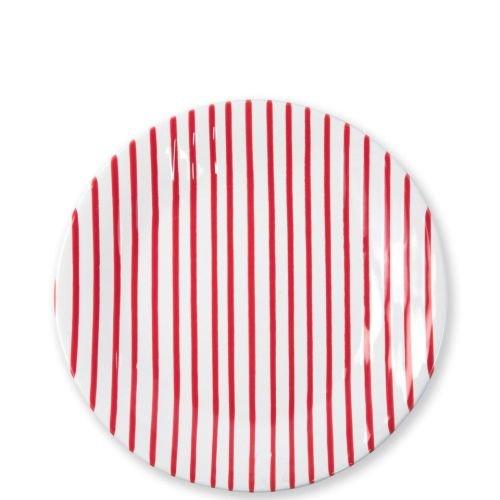 Vietri Stripe Red Dinner Plate
