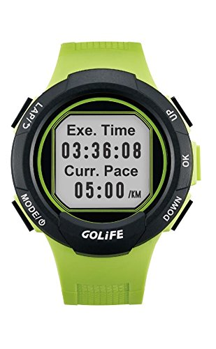 GOLiFE Fashion Thin GPS Smart sport Watch for Women and Men Runner with Heart Rate Motor Chronograph Stopwatch Alarm Clocks SMS App Notice (Green) by GoLife