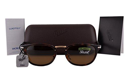 Persol PO3127S Sunglasses Havana w/Polarized Brown Lens 2457 PO3127 For - Po3105s Persol