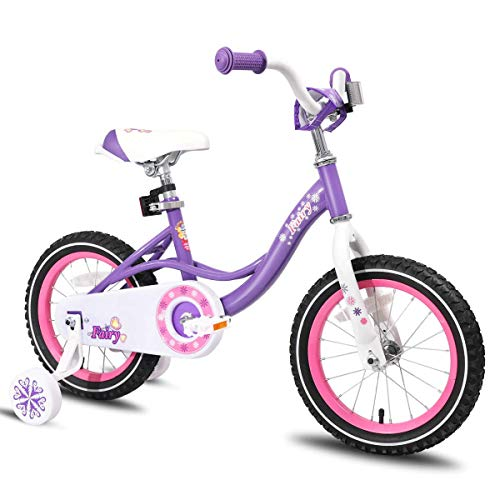JOYSTAR 16 Inch Kids Bike with Training Wheels for 4 5 6 Years Old Girls, Toddler Cycle for Early Rider, Child Pedal Bike, Purple (Best Bmx Bike For 7 Year Old)