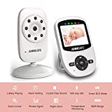 Video Baby Monitor with Digital Camera, ANMEATE Digital 2.4Ghz Wireless Video Monitor with Temperature Monitor, 960ft Transmission Range, 2-Way Talk, Night Vision, High Capacity Battery (white3)