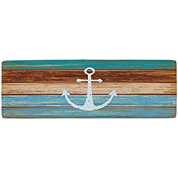 Ihome888 Nautical Anchor Bath Mats And Rugs, Flannel Fabric Non Slip Rubber  Backing Absorbent Bathroom