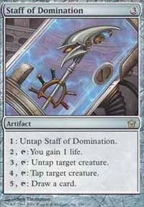 Magic: the Gathering - Staff of Domination - Fifth Dawn from Magic The Gathering