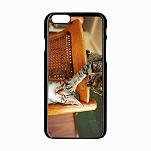 iPhone 6 Black Hardshell Case 4.7inch couple chair playful Desin Images Protector Back Cover