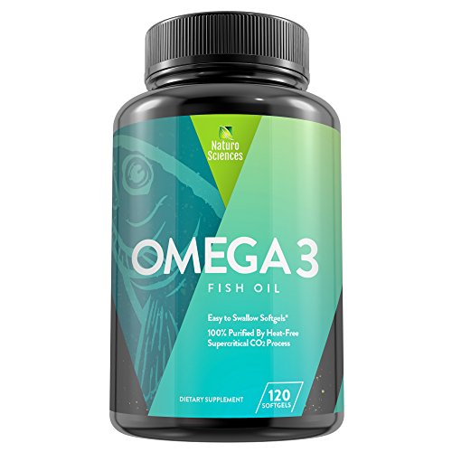 1700mg of Omega 3 – Essential Fatty Acid Fish Oil Supplement – IFOS 5 Star Certified, Best EPA 900mg & DHA 600mg Per Serving – Supercritical Process for Quality Purified Omega-3 120 Count