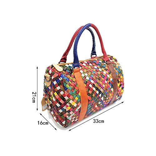 Main à Sac Tissés Pour à Polyvalents Et à Main La AJLBT Américain Européen Sacs Style Colored Mode Femme Main ECqFFY