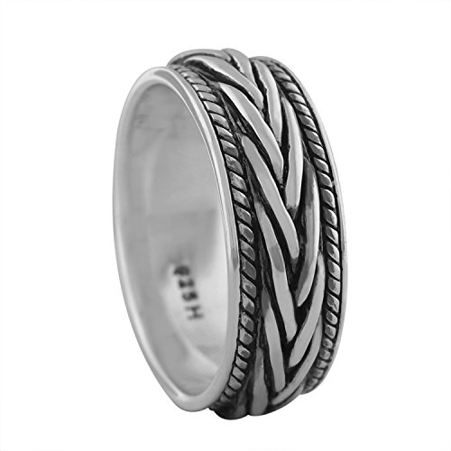Sterling Silver Braided Wedding Ring Size 7 ()