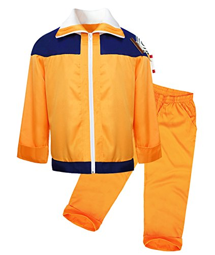 DAZCOS Adult US Size Uzumaki Childhood Shippuuden Men's Cosplay Costume (Men S) Orange
