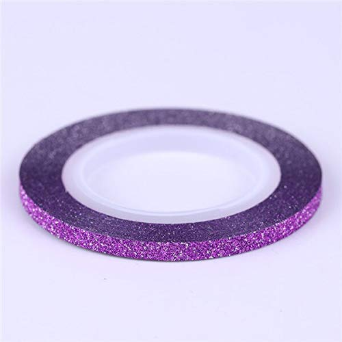 Kamas 1Pc Nail Striping Tape Line Nail Art Adhesive Decal 1mm/2mm/3mm Gold Blue Styling Tool Nail Art Decoration Sticker DIY Nail Tips - (Color: Purple 3mm) by Kamas