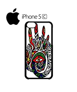 Third Inner Eye Hand Mobile Cell Phone Case Cover iPhone 5c White