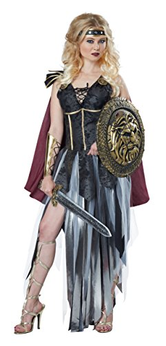 California Costumes Women's Glamorous Gladiator, Black/Burgundy, Small