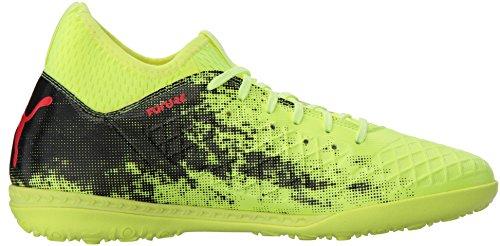 Pictures of PUMA Men's Future 18.3 TT Soccer Shoe Black/ Yellow/ Asphait 3