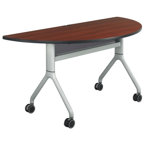 Safco Rumba Half-Round Nesting Table - 60in. x 30in., Cherry/Gray, Model# 2035CYSL ()