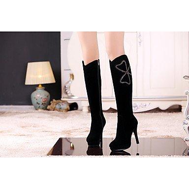 LFNLYX Mujer-Tacón Stiletto-Tacones-Botas-Vestido / Casual-Ante-Negro Black