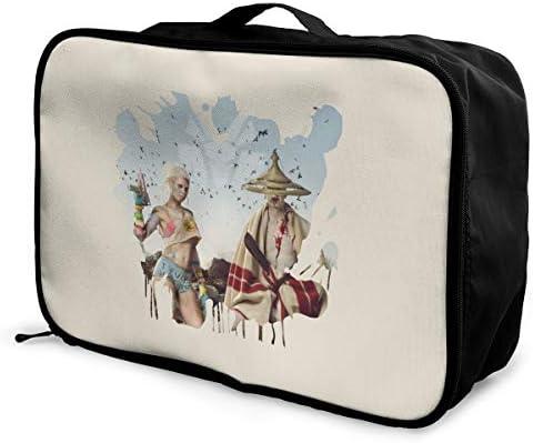 アレンジケース ダイ・アントワード 旅行用トロリーバッグ 旅行用サブバッグ 軽量 ポータブル荷物バッグ 衣類収納ケース キャリーオンバッグ 旅行圧縮バッグ キャリーケース 固定 出張パッキング 大容量 トラベルバッグ ボストンバッグ