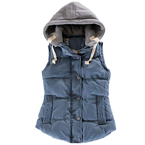 Huicai 冬 コットン ノースリーブ ベスト 女性の ボタン 短いパラグラフ 暖かく保つ コート パーカー