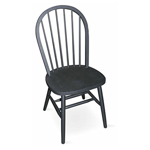 Spindle Back Windsor Chair (International Concepts Estill Windsor High Spindle Back Dining Chair with Plain Legs)