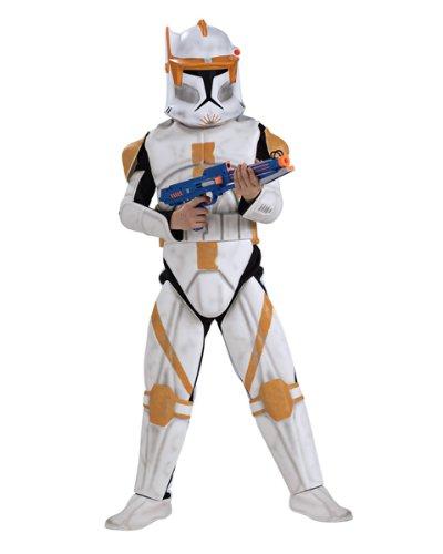 [Deluxe Clone Trooper Commander Cody Costume - Medium] (Clone Trooper Commander Cody Child Costume)