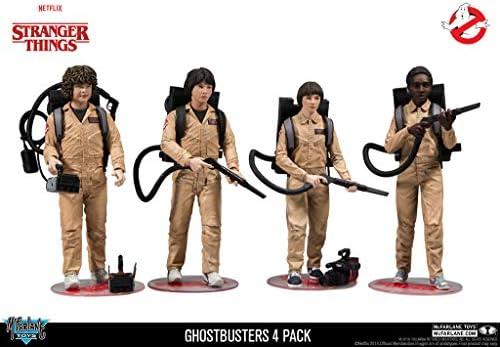 McFarlane- Stranger Things Pack Figuras Dustin, Mike, Will & Lucas Cazafantasmas, Multicolor, 15 cm (MAR187206): Amazon.es: Juguetes y juegos
