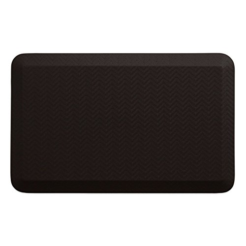 """NewLife by GelPro Anti-Fatigue Designer Comfort Kitchen Floor Mat, 20x32"""", Sisal Coffee Bean Stain Resistant Surface with 3/4"""" Thick Ergo-foam Core for Health and Wellness (Ergo Foam)"""