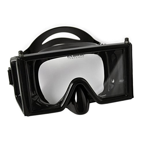 Aqua Lung Wraparound Three Window Mask, Black