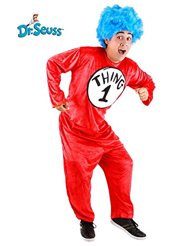 Adult Dr. Seuss Thing 1 or Thing 2 Costume SM
