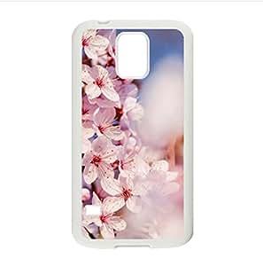 Japanese Cherry Blossom Tree pattern,The sakura art Custom Case for Samsung Galaxy S5 PC case cellphone cover white
