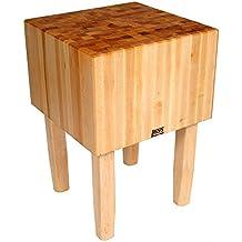 John Boos BoosBlock AA Professional Prep Table with Butcher Block Top AA04