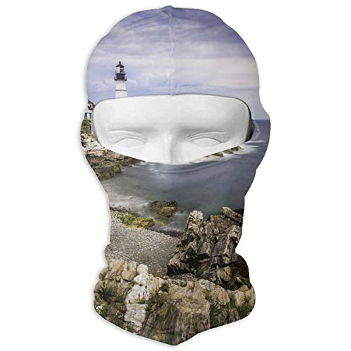 Leopoldson Portland Lighthouse Seascape Balaclava UV Protection Windproof Ski Face Masks for Cycling Outdoor Sports Full Face Mask Breathable