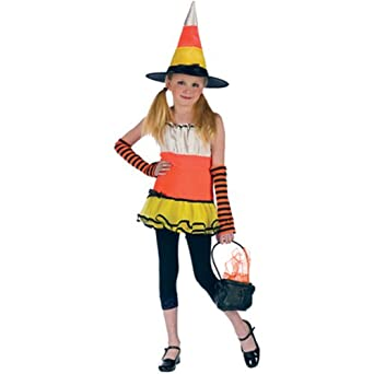 Preteen Candy Corn Witch Halloween Costume (Large)  sc 1 st  Amazon.com & Amazon.com: Preteen Candy Corn Witch Halloween Costume (Large): Clothing
