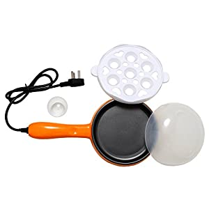 HSR Compact and Versatile Egg Boiler + Non-Stick Electric Frying Pan