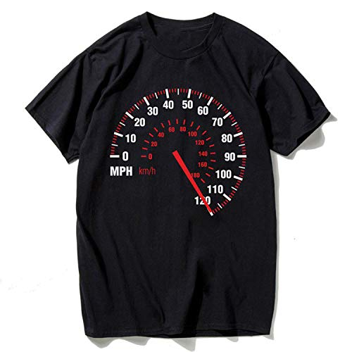 Speedometer Ninja - Love & Freedome T-shirts Speedometer Fashion Motorcycle T Shirt Men Cotton Summer Black Design Tops Tees Fitness,Black,US Size S