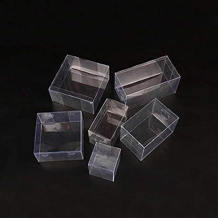 XLPD Caja de plástico Transparente de 25 tamaños, Caja de Regalo ...
