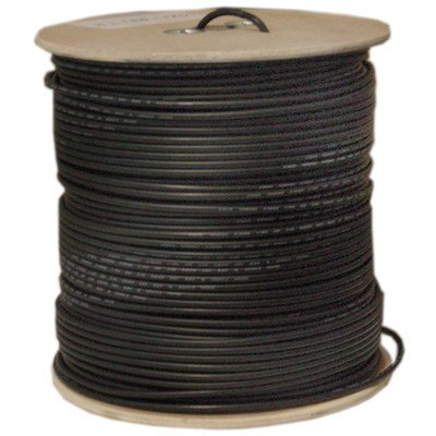 1000ft, Black Bulk RG58/AU Coaxial Cable, 20 AWG, Spool ( 1 PACK ) BY NETCNA by NETCNA