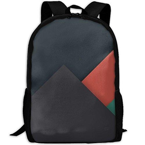 Markui Adult Travel Hiking Laptop Backpack Simple Geometry School Office Multipurpose Zipper Bags Fashion Durable Daypacks