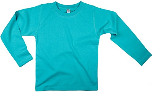Earth Elements Little Kids'/Toddlers' Long Sleeve T-Shirt 8T Aqua ()