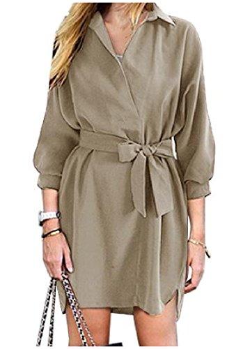 Buy belted chiffon shirt dress - 8