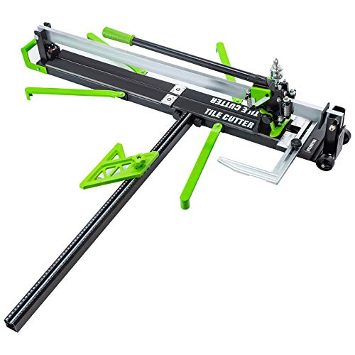 Mophorn 39 Inch Green Manual Tile Cutter w/Precise Laser Positioning & Anti-sliding Rubber Surface Single Rail Four Brackets Suitable for Porcelain and Ceramic Floor Tiles (39 Inch)