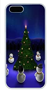 3D christmas Custom iPhone 5s/5 Case Cover Polycarbonate White New Year gift by mcsharks