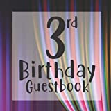 3rd Birthday Guestbook: Cute Circus Curtain Themed - Third Party Baby Anniversary Event Celebration Keepsake Book - Family Friend Sign in Write Name, ... W/ Gift Recorder Tracker Log & Picture Space