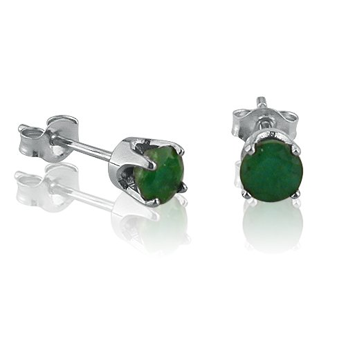 14k-White-Gold-4mm-Round-Genuine-Emerald-Stud-Earrings-12ct-tw