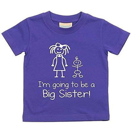 Big Sister A Bambino To Viola Maglietta Bimbo Be Going I'm Bambini OP8kw0nX