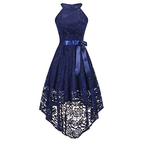 Todaies Clearance Women Wedding Bridesmaid Dress Sleeveless Vintage Dress Formal Ladies Lace Long Dress (Formal Johnny Dress)