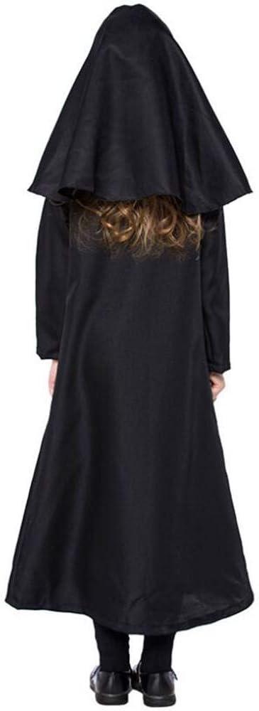 ASDF Disfraz de Monja de Halloween Cosplay Disfraz de niña ...