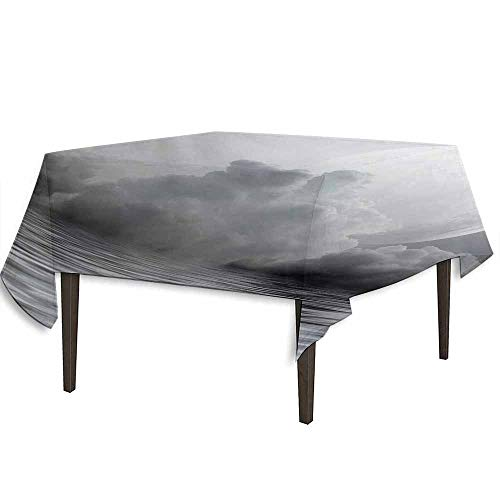 kangkaishi Moon Washable Tablecloth Misty Air in The