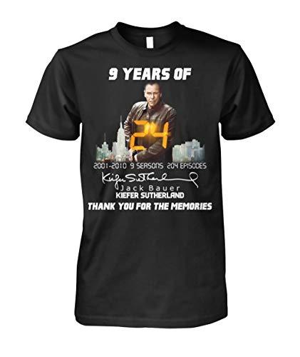 Teekura 9-years-of-24-Jack-Bauer-Kiefer-Sutherland-thank-you-for-the-memories t Shirt Black