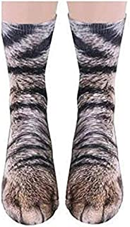 Puseky Novelty 3D Print Animal Foot Hoof Paw Feet Crew Socks Unisex Adult Children Digital Simulation Socks