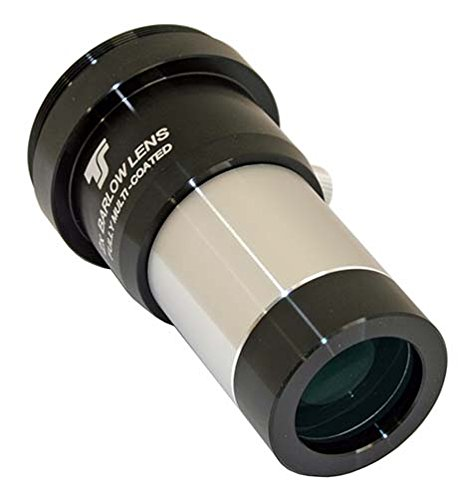 with T2 connection and ring clamp TSB21T2 visually and photographically usable 1.25 inches 2x Barlow lens TS-Optics